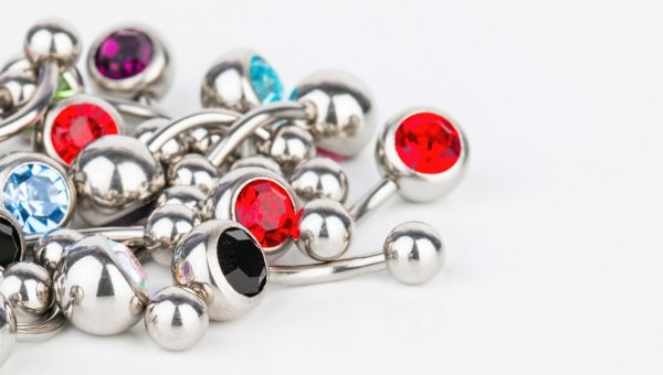 With caution: Jewels and piercings