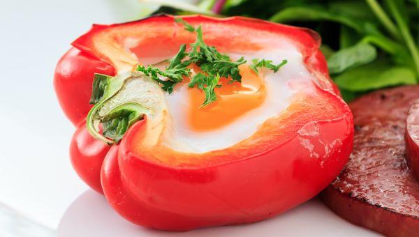 87. Egg-stuffed bell pepper