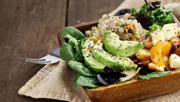 Sprinkle quinoa on salads