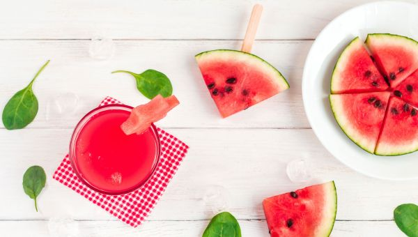 Frozen watermelon mocktail