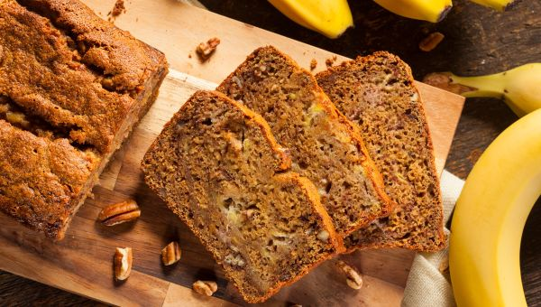 Whole grain banana bread