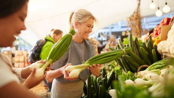 Visit the farmers' market