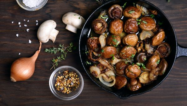 Sautéed garlic and herb mushrooms