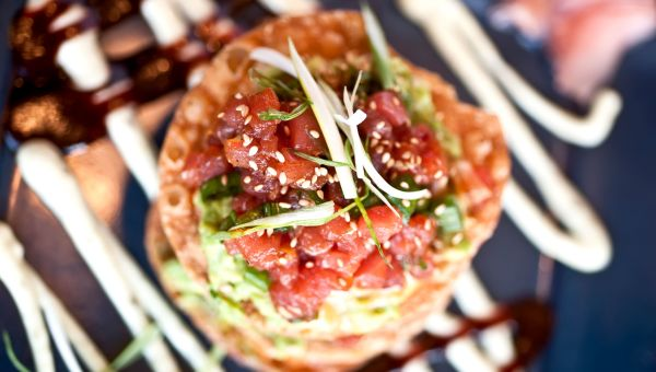 Mexican Tuna Tostada Recipe