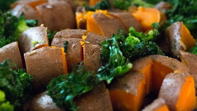 Grilled Kale and Sweet Potato Flatbread