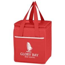 Wave Design Non-Woven Cooler Lunch Bag