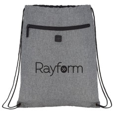 Graphite Drawstring Sportspack with Earbud