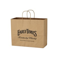 "Kraft Paper Brown Shopping Bag - 16"" x 12-1/2"""