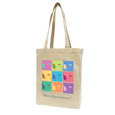12 oz Cotton Canvas Book Tote Bag