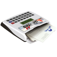 Compact Calculator with Business Card Holder