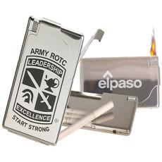 Imprinted Cigarette Case w/Electronic Lighter