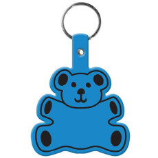 Imprinted Teddy Bear Flexible Key-Tag
