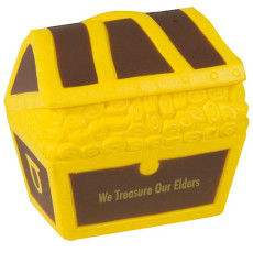 Imprinted Treasure Chest Stress Reliever