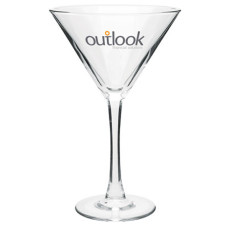 Logo 10 oz. Martini Clear