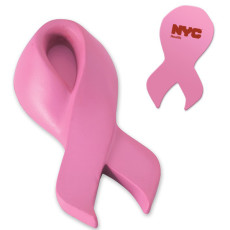 Logo Pink Awareness Ribbon Stress Reliever