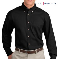 Logo Long Sleeve Twill Dress Shirt