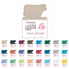Custom 14-Month Debossed with Bull Press-N-Stick Calendar