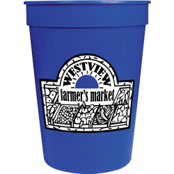 12oz Imprinted Smooth Stadium Cup