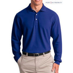 Port Authority L-Sleeve EZCotton Pique Shirt