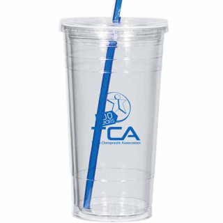 Custom 24 Oz. Double Wall Acrylic Tumbler