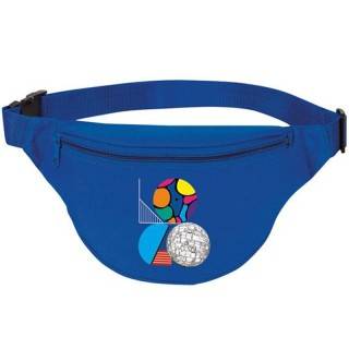 Custom 2-Zipper Fanny Pack - 600D Polyester