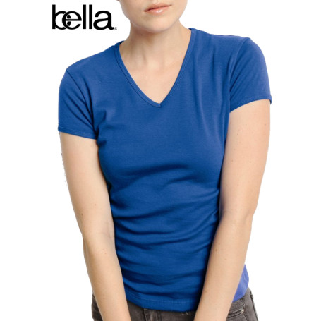 Bella Ladies' Short-Sleeve V-Neck T-Shirt