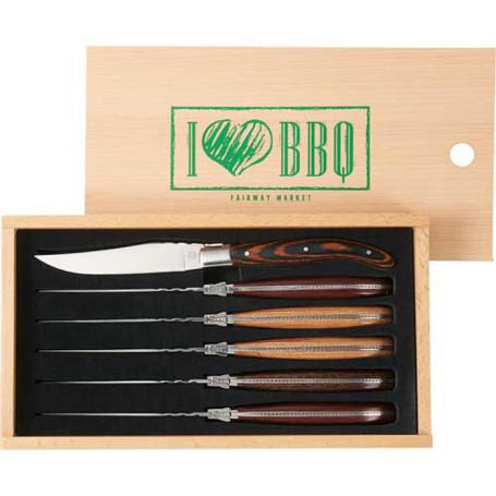 Custom Laguiole 6 Piece Array Steak Knife Set