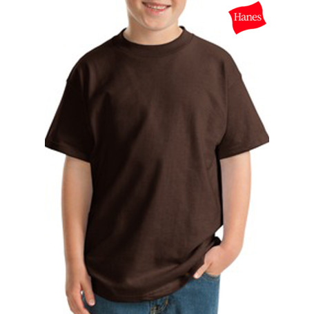 Hanes Youth Beefy-T Born 100% Cotton T-Shirt