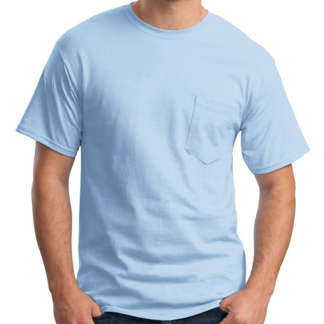 Hanes Tagless 100% Cotton T-Shirt w/Pocket