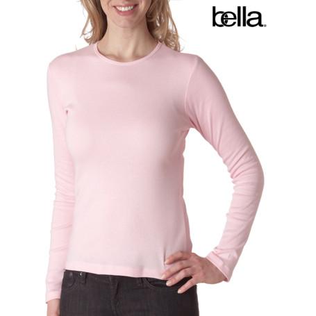 Bella Baby-Rib Long-Sleeve Crewneck Tee