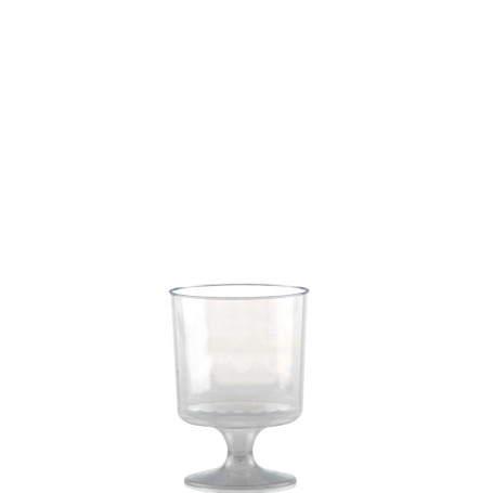 5 oz Clear Fluted Classic Footed Wine Glasses
