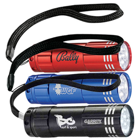 Custom Printed Flare 9 LED Flashlight