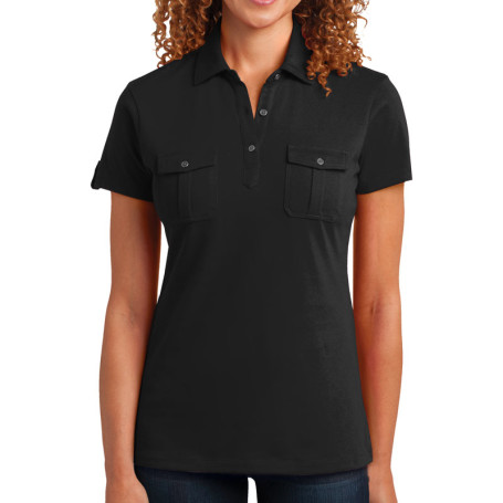 District Made Ladies Double Pocket Polo (Apparel)