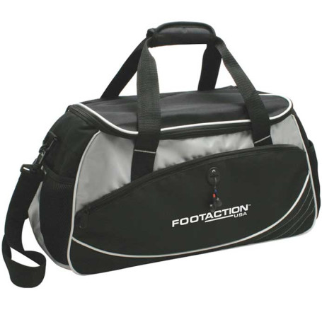 Custom Printed Sports Travel Duffel Bag - Black