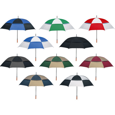 "Printed 68"" Arc Vented, Windproof Umbrella"