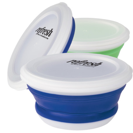 Imprinted Collapsible Food Bowl