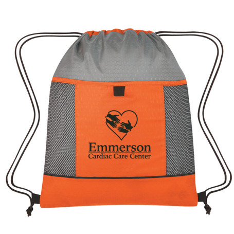 Imprinted Honeycomb Ripstop Drawstring Bag