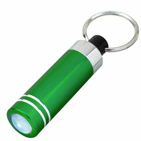 Imprinted Mini Aluminum LED Light with Key Ring