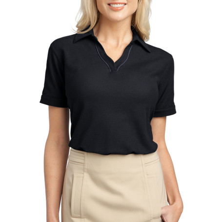 Port Authority Ladies Silk Touch Piped Polo