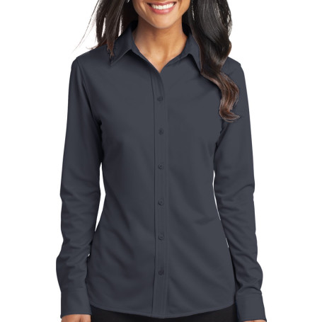 Port Authority Ladies Dimension Knit Dress Shirt (Apparel)