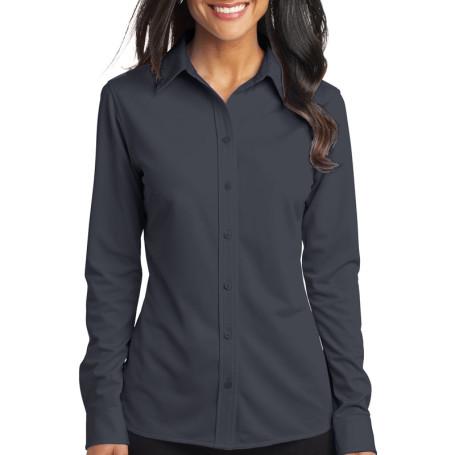 Port Authority Ladies Dimension Knit Dress Shirt (Apparel)