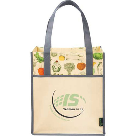 Matte Non-Woven Vintage Big Grocery Tote