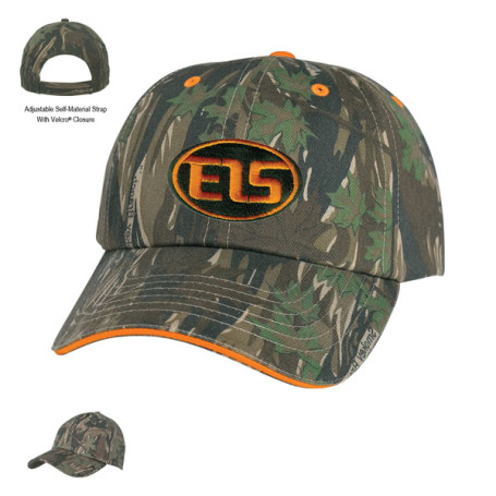 Monogrammed Camouflage Cap