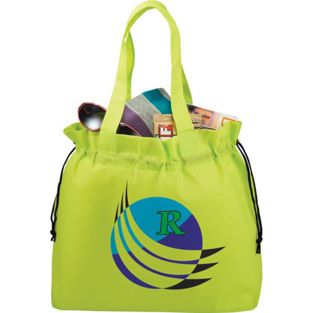 Monogrammed Shell Cinch Tote