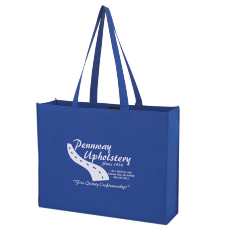 Custom Printed Non-Woven Shopper Tote With Velcro Closure