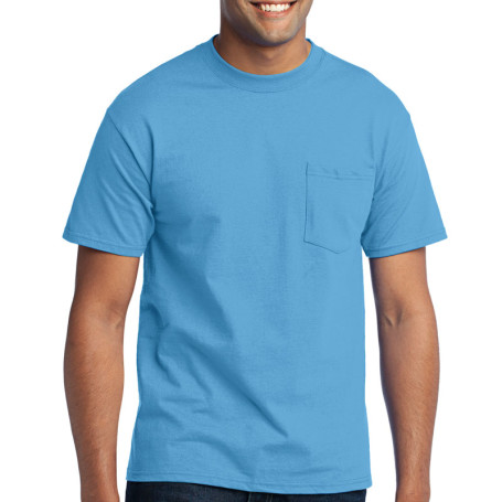 Port & Company - 50/50 Cotton/Poly T-Shirt with Pocket (Apparel)