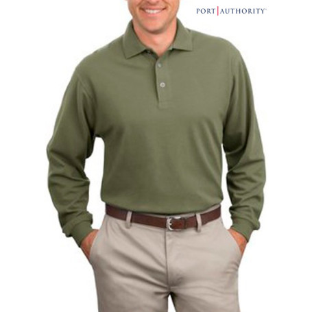 Port Authority L-Sleeve Pique Knit Sport Shirt