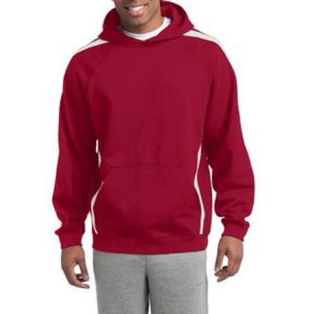 Sport-Tek-Sleeve Stripe Pullover Hooded Sweatshirt