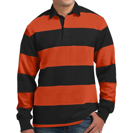 Sport-Tek Long Sleeve Rugby Polo (Apparel)