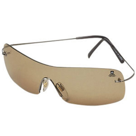 Sunglasses Frameless Style Brown Tinted Lenses